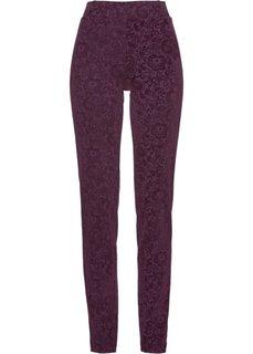 Трикотажные брюки с бархатным принтом (цвет бузины) Bonprix