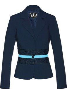 Пиджак с кружевной отделкой (темно-синий/синяя пудра) Bonprix