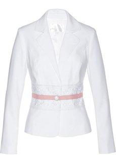 Пиджак с кружевной отделкой (кремовый/нежно-розовый) Bonprix