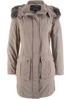 Пальто с вышивкой (серо-коричневый) Bonprix