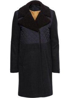 Пальто с имитацией шерсти (черный) Bonprix