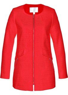Длинный пиджак из букле (клубничный) Bonprix