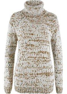 Пуловер с высоким воротом (кремовый) Bonprix