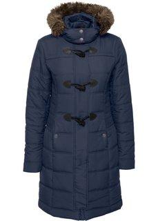 Стеганая куртка со съемным искусственным мехом (темно-синий) Bonprix