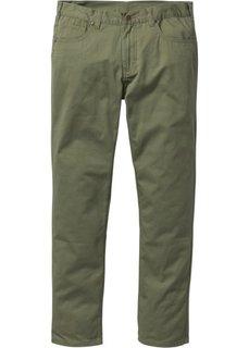 Прямые классические брюки, cредний рост (N) (оливковый) Bonprix