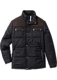 Зимняя куртка Regular Fit на ватиновой подкладке (черный) Bonprix