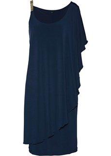 Вечернее платье с воланом (темно-синий) Bonprix