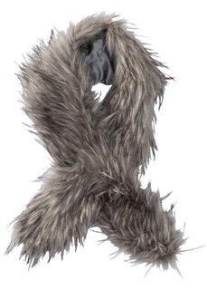 Палантин из искусственного меха (серый) Bonprix