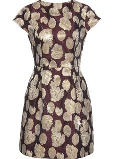 Платье с золотистым отливом (темно-красный/золотистый) Bonprix