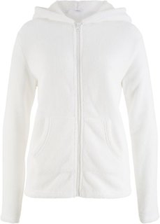 Флисовая куртка с капюшоном (кремовый) Bonprix