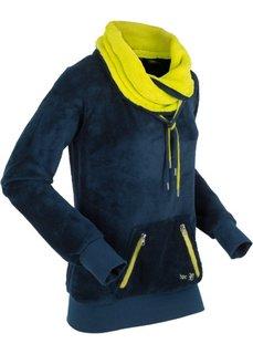 Флисовая куртка с длинным рукавом (темно-синий/зеленый лайм) Bonprix