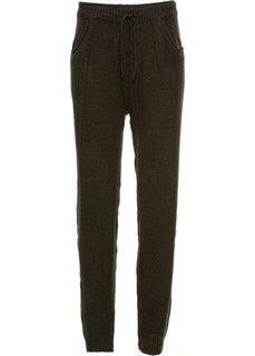 Вязаные брюки (темно-оливковый) Bonprix