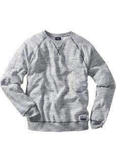 Свитшот Regular Fit (серый меланж) Bonprix