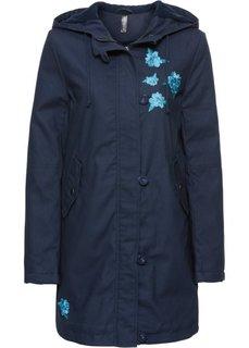 Куртка с вышивкой (темно-синий) Bonprix