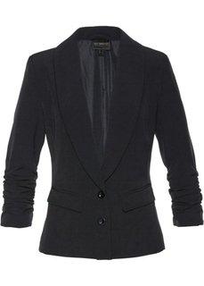 Пиджак с драпированными рукавами (черный) Bonprix