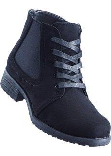 Ботильоны на шнуровке (черный) Bonprix