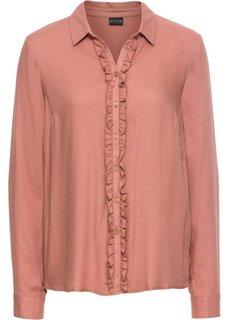 Блузка с воланами (дымчато-розовый) Bonprix