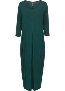 Трикотажное платье макси (зеленый) Bonprix