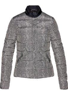 Стеганая куртка (черный/кремовый с рисунком) Bonprix