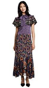 Anna Sui Paisley Fringe Maxi Dress