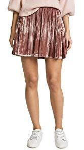 Madewell Velvet Pleated Miniskirt