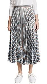 Rossella Jardini Striped Midi Skirt