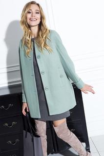 Мятное пальто без воротника La Reine Blanche