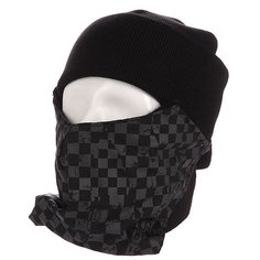 Маска Pro-Tec Face Mask Grey Checker