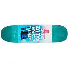 Дека для скейтборда для лонгборда Zero No Cash Value Cruiser Teal 8.75 x 32.1 (81.5 см)