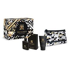 TRUSSARDI Подарочный набор Black Extreme Туалетная вода 50мл + гель для душа 100мл + косметичка