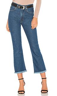 Укороченные расклешенные джинсы estella fray high rise - Citizens of Humanity