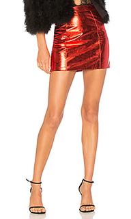 Мини юбка с высоким поясом caution - h:ours