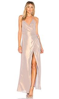 Макси платье с запахом sylvia dress - MAJORELLE