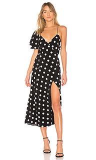 Платье с запахом cape sleeve - Michelle Mason