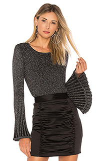 Пуловер с расклешенными рукавами rib - MILLY
