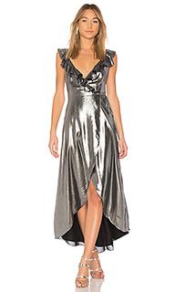 Платье миди с запахом и воланом fillmore - Privacy Please