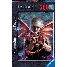Пазл «Девушка с драконом» , 500 деталей, Ravensburger