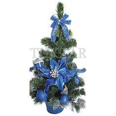 Елка декоративная с синими украшениями, 50 см Tukzar