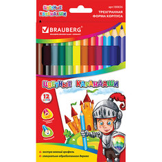 Цветные карандаши 12 цв., Brauberg
