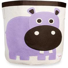 Корзина для хранения Бегемотик (Purple Hippo), 3 Sprouts