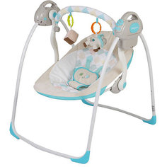 Электрокачели Riva с адаптером, Baby Care, синий