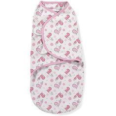 Конверт на липучке Swaddleme, размер S/M, розовые птички Summer Infant