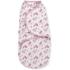 Конверт на липучке Swaddleme, размер L , розовые птички Summer Infant