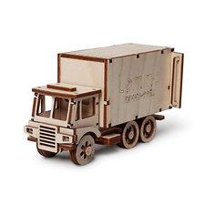 """Сборная деревянная модель Lemmo """"Фургон. ЧИП"""", подвижная"""