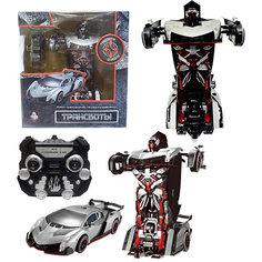 """Радиоуправляемый робот-трансформер 1Toy """"Трансботы"""" Спорткар, серебристый"""