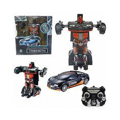"""Радиоуправляемый робот-трансформер 1Toy """"Трансботы"""" Спорткар, черно-оранжевый"""