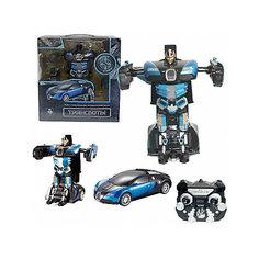 """Радиоуправляемый робот-трансформер 1Toy """"Трансботы"""" Спорткар, синий"""