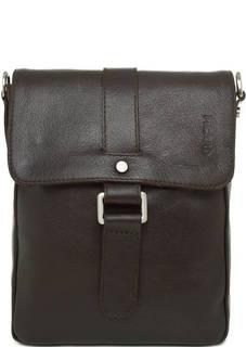 Кожаная сумка коричневого цвета с откидным клапаном Picard