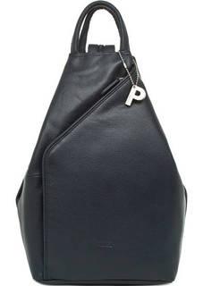Синий кожаный рюкзак Picard