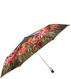 Разноцветный складной зонт с цветочным принтом Zest